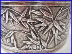 Chinese Tea Box Sterling Silver Wang Hing Circa 1890