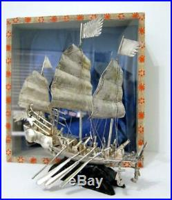 Chinese White metal junk 17cms high