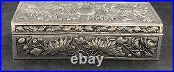 Chinese export silver jewellery box Hung Chong Canton & shanghai