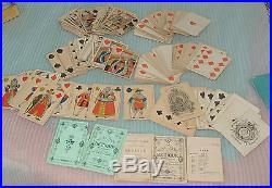 Chinese gambling chips poker cards Mother Of Pearl nacre 98 pc box Qing 1830's