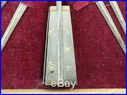 Chinese silver opium tool set, marked. Box 9 x 6, weight 7 Oz. (BI#MK/180529)