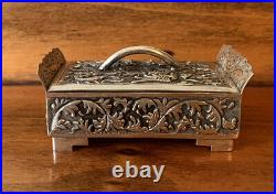 DRAGONS Antique Chinese Export Sterling Snuff Box Trinket Case Nouveau 58 Grams