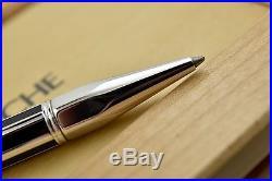 EUC+BOX Caran D'Ache Varius Silver & Black Chinese Lacquer Rhodium Ballpoint Pen