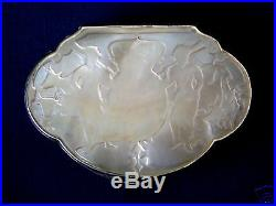 Early 19th Chinese Export Trade Silver & MOP snuff Box Cumshing CS