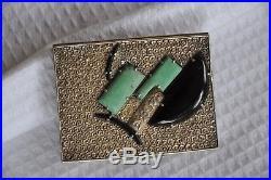 Etui A Cigarettes Boite A Poudre Art Deco Antique Solid Silver Chinese Snuff Box