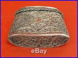 Etui, Boite en Argent Massif Filigrané, Chine XIXe siècle. Silver Chinese, Box