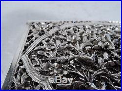 Export Card Case Antique Asian China Trade Filigree Chinese Silver