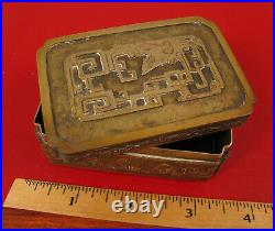 Exquisite Chinese Trinket Snuff Cigarette Box Signed T. H. Wu China Silver Rare