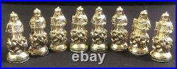Fancy Vintage Chess Set, Ancient Chinese Comes With Marble Board & Mosaic Box