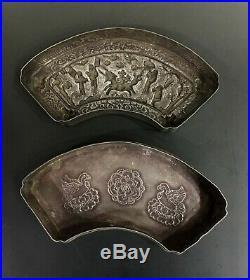 Free shipping rare Chinese pure silver figure design bridge type rouge box