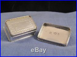 Georgian Chinese Pearl Gaming Counters Antique Silver Box Nathaniel Mills 1831