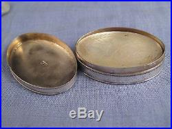 Georgian Chinese Pearl Gaming Counters Antique Sterling Silver Box Dated 1798