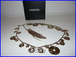 Genuine Chanel Limited Paris Shanghai Metiers D Art Silver Chinese Coins CC Box