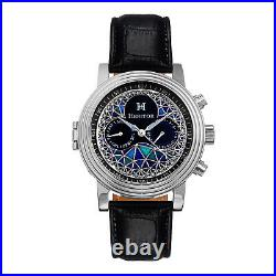 Heritor Automatic Legacy Chinese Movement Genuine Leather Watch Stainless Steel