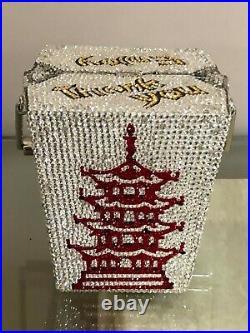 Judith Leiber Chinese Food Takeout Box Swarovski Crystal Clutch, NIB