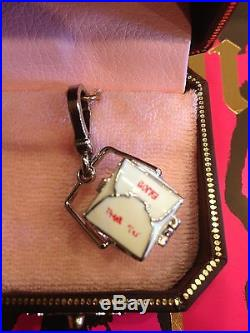 Juicy Couture Chinese Takeout Box Charm RARE SILVER