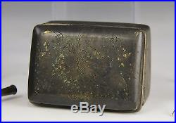 Large Lot Of Old Chinese Bronze Silver Metal Works Box Seal Pot Etc