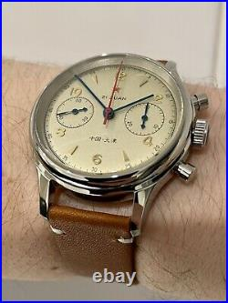 Mens Pilot Watch Mechanical Chronograph St1963 Chinese Airforce Homage 2 Straps