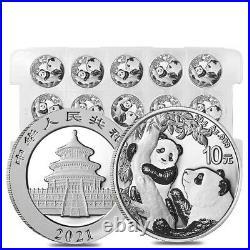 Monster Box of 450 2021 30 gram Chinese Silver Panda 10 Yuan. 999 Fine BU 30
