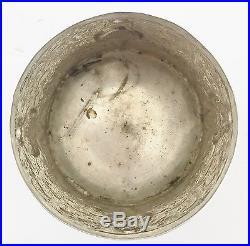 RARE Antique Chinese Hallmarked Solid Silver Pot Jar Box Nepalese Deities