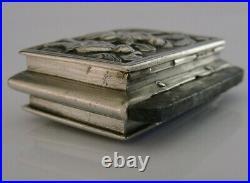 RARE CHINESE EXPORT SILVER FLINT VESTA TINDER BOX c1840 ANTIQUE