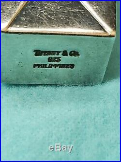 RARE Vintage Tiffany & Co Sterling Silver Chinese Take Out Pill Box 925