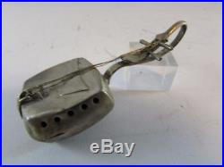 RARE vintage sterling silver Antique Chinese Mandolin or guitar music snuff box
