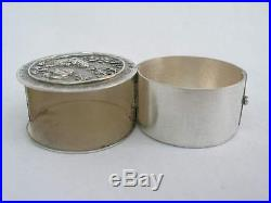 Rare 19th Century Hallmarked Chinese Silver Swing Out Coin Box