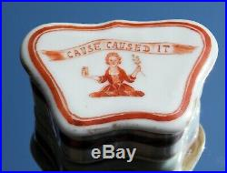 Rare Antique Chinese Armorial Scottish Clan Elphinstone Snuff Box