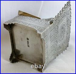 Rare Antique Kwan Wo Chinese Export Silver Throne Salt Box Circa 1890s