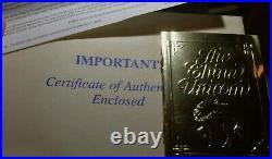 Rare China Chinese Unicorn. 999 Gold Silver Proof 1994 Boxes COA Free Shipping