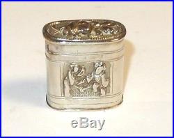 Rare Old Small Chinese Silver Opium Jar Box
