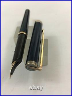 S. T. Dupont Classic 925 Dark blue chinese FP 18ct-750 EF nib as Fine BOX France