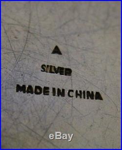 STUNNING CHINESE EXPORT SILVER ENAMEL BOX c1940