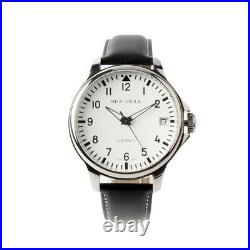 Seagull 44mm Automatic Chinese Big Pilot Watch Commander Arabic Numerals White