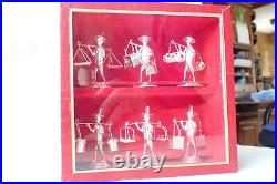Set of 6 Boxed Chinese/Japanese Sterling 925 Street Vendor Figures Card Holders