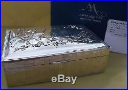 Superb Antique Chinese Export silver cigar box, circa 1930, 1024 grams