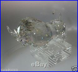 Swarovski Silver Crystal Chinese Zodiac Ox 1121179 Mint In Box