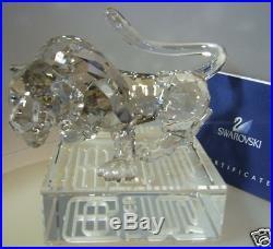 Swarovski Silver Crystal Chinese Zodiac Tiger 1002980 Mint In Box