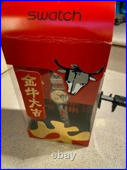Swatch Chinese New Year Special Bull's on Parade GE222 Watch, New Old Stock