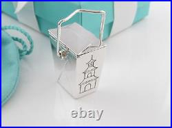 Tiffany & Co Silver Chinese Pagoda Take Out Pill Box Case Box Pouch Card