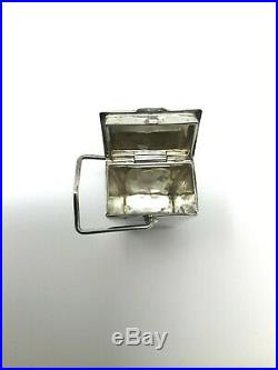 Tiffany & Co Sterling Silver. 925 Chinese Pagoda Take Out Pill Box Case Vintage