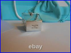 Tiffany & Co Sterling Silver Chinese Take Out Pagoda Pill Box with Box & Bag