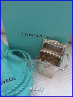 Tiffany & co chinese take out sterling 925 silver pill trinket box