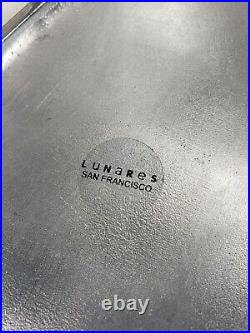 Unique! Lunares Polished Metal Chinese Takeout Serving Box Set 3 Sets and Tray