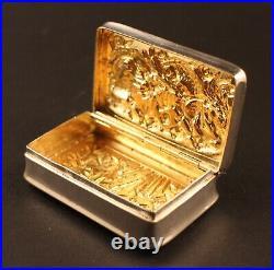 Victorian Scottish Silver Chinese Style Snuff Box By R. Sturrock Edinburgh 1897
