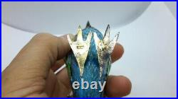 Vintage Chinese Export Sterling Silver Box Enameled Bird of Paradise