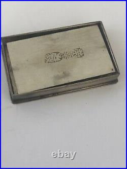 Vintage Chinese Silver Compartments Pill Box