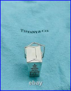 Vintage Tiffany & Co Sterling Silver Chinese Take Out Pill Box