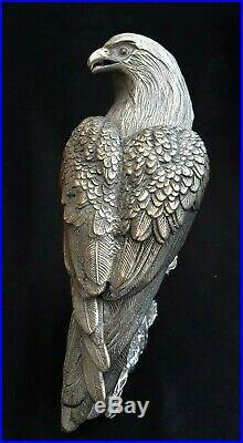 Vintage/antique Chinese Or Tibetan Silver Eagle/hawk Incense Burner Box & Statue